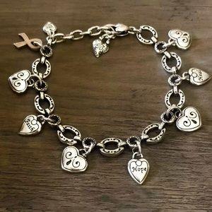 BRIGHTON Breast Cancer Awareness Charm Bracelet
